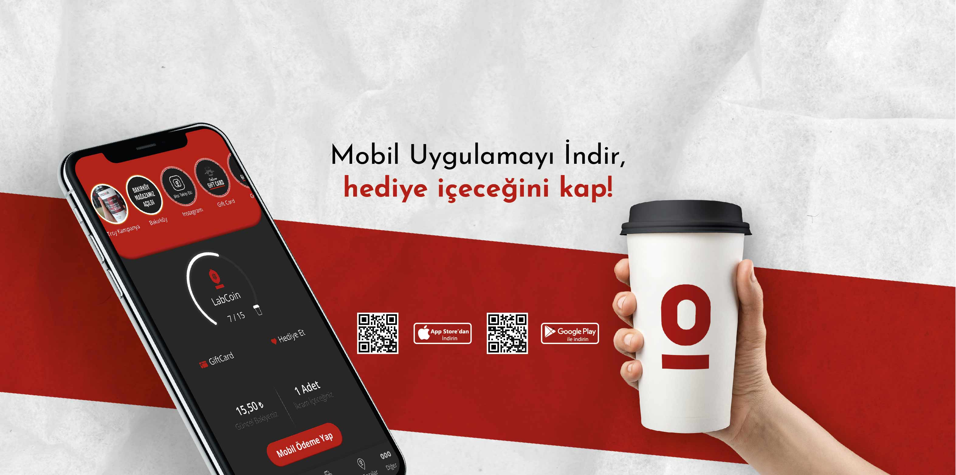Download the Mobile Application, grab the gift drink!