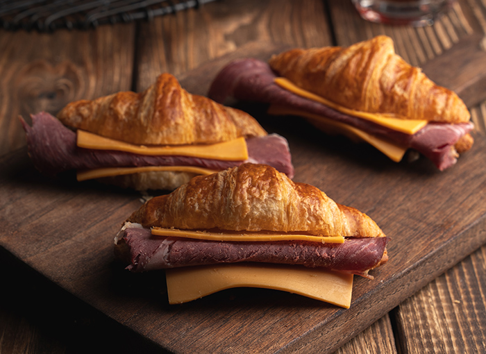 Mini Croissant with Smoked Beef