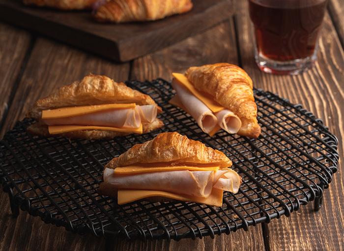 Mini Croissant with Smoked Turkey