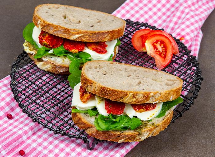 Pesto Mozzarella Sandwich