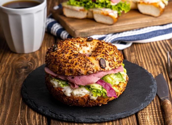Roast Beef Bagel Sandwich
