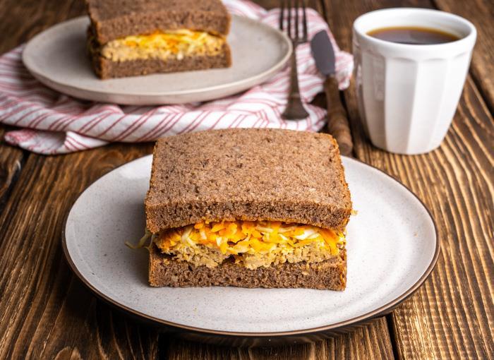 Special Sauce Chicken Rye Bread Sandwich