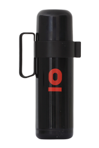 T. BLACK THERMOS WITH HANDLE