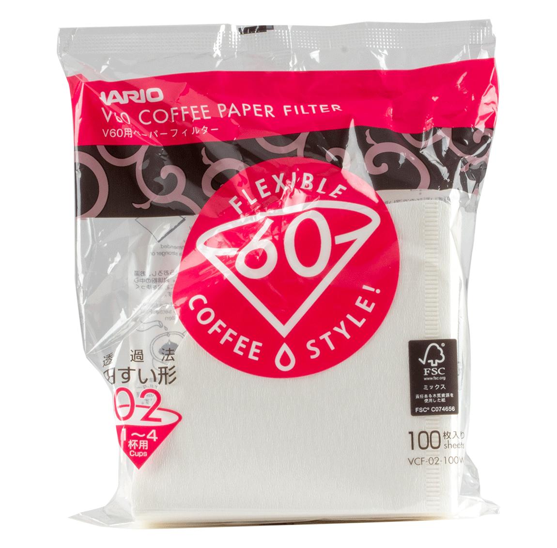 Hario Coffee Paper Filter - 100 pieces