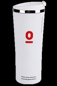 قارورة قهوة عازلة معدنية بيضاء
